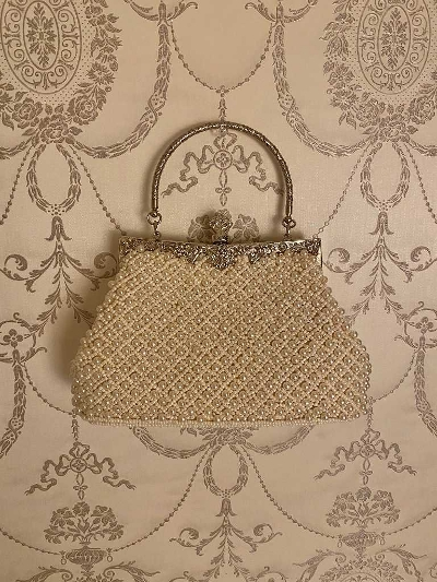 【Re Arrival】purse pearls bag[saya select]
