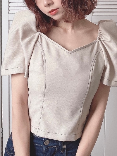 puff line short blouse[kanako select]